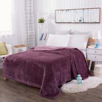 Soft Faux Fur Mink Fleece Throw Warm Sofa Blanket Single Double King Size Bed