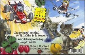 [PG1019] Belgium 2006 Belgica Cat - Dog - Car - plane good sheet very fine MNH