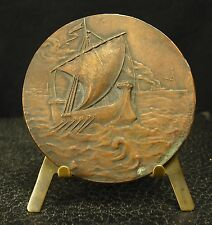 Médaille Galère & Vapeur par M Lordonnois sculpt gabriel rousseau delcit medal