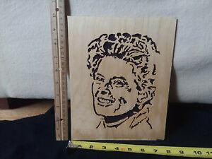 Wood Scroll Saw Wall Art Portrait cutout Katharine Hepburn