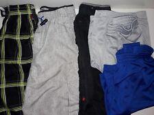 """Lot of 5 Pair Large Shorts (3 Cargo Swim Shorts/2 """"Champion"""" Gym Shorts"""