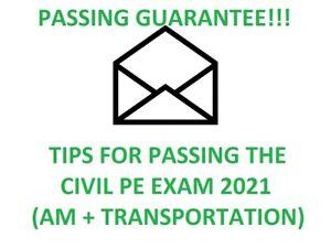 CIVIL PE EXAM STUDY MATERIALS (Breadth AM + Transportation Depth) TIPS