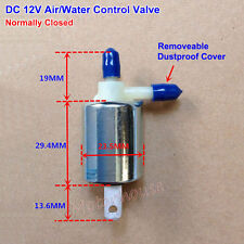 Mini Electric Solenoid Valve DC 12V Normally Closed N/C Air Water Control Valve