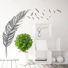 Birds Flying Feather Removable Wall Sticker Vinyl Home Decal Mural Art Decor