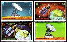UAE 1975 ** Mi. 36/39 Erdefunkstelle Satellite Earth Station Weltraum Space