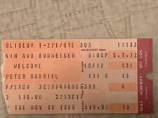 11-18-1986 Peter Gabriel concert Ticket Stub,