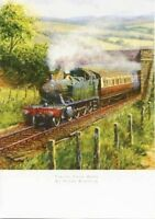 "BIRTHDAY CARD BLANK ""STEAM TRAIN DESIGN"" SQUARE SIZE 4.75"" x 6.75"" FF0348"