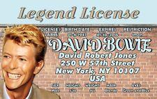 David Bowie / Rock Legend novelty collectors card Drivers License