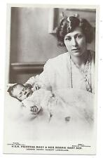 ROYALTY - PRINCESS MARY & Baby Son GEORGE H. LASCELLES   Beagles R.P. Postcard