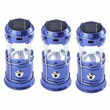 5800-T Rechargeable Solar Camping Lantern (Blue) Set of 3