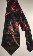 Ringneck Pheasant Addiction Silk Tie Colorful Plaid Bird Hunter Watcher