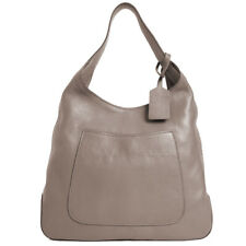 PRADA Women's Argilla Grey Leather Large Hobo Handbag 1BC006 NWT
