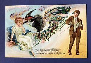 Vintage 1908-1910 Nash Halloween Postcard