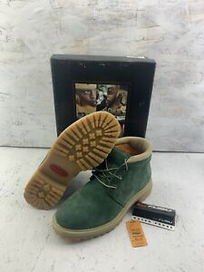 The Fubu Collection Vintage Fubu Men's Hunter Green Suede Boots Size 10E NOS