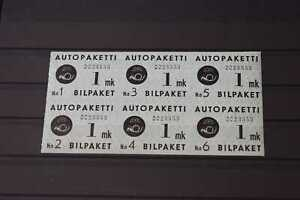 Finland 1949 Bus Parcel Post Block on Stockcard, 99p Start