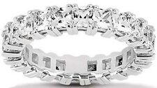 3.73 carat Princess Cut Diamond Wedding Band Eternity Ring F color VS clarity