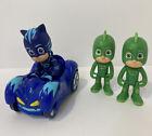 PJ Masks Figure Toy Lot Catboy + Gekko (2x) + Car