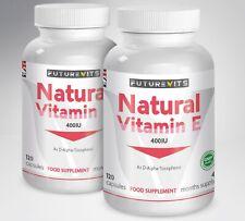 Vitamin E 400IU Capsules For Hair Face Skin Glow Max Oil Strength Futurevits UK