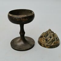 Collect China Dynasty Old Bronze carved Mountain Censer Boshanlu Incense Burner