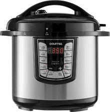 Gourmia - 8-Quart Pressure Cooker - Stainless steel