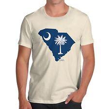 Twisted ENVY para hombre Premium de bandera del estado de Carolina del Sur EE. UU. Algodón Camiseta