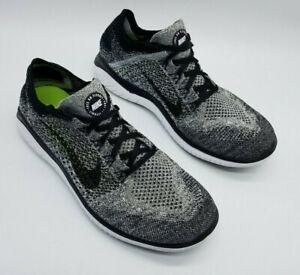 Nike Free RN Flyknit Men's Running Shoes Oreo 942838-101 Size 10