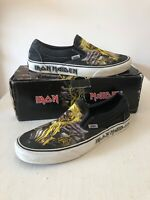 IRON MAIDEN Vans Killers Black Canvas Classic Slip On UK 10 Limited Edition