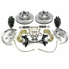 "GM Front Disc Brake Conversion Kit 2"" Drop Spindles Rotors GM A,F,X Body"