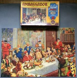 "Vintage Ambassador Series ""The Kings Banquet"" Over 800 Piece Jigsaw, Tower Press"