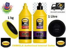 Farecla G3 1kg Premium  Compound + G3 WAX 1L Liquid Polish +CFY601 +GMF601 Heads