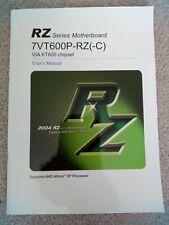 RZ Series Motherboard Users Manual