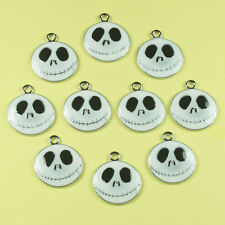 10pcs White Jack Skellington Nightmare before Charm Pendant Jewerly Making Craft