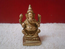 Ganesha Hindu Elephant God Lord of Success Brass Statue Pooja Puja