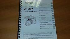 Olympus E-m1 Cámara Digital Manual de instrucciones impreso Guía de usuario 165 páginas