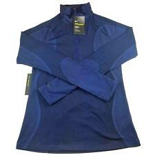 Nike Hyperwarm Training Top Blue Women's Size Medium Half Zip 933294 410 NWT