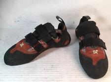 FiveTen 5.10 Stonelands Red Leather Climbing Shoes Stealth C4 Men 9 Women 10 Euc