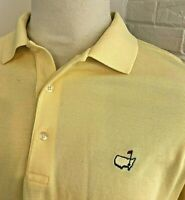 MASTERS COLLECTION AUGUSTA Golf Polo Shirt Yellow Pima Cotton Masters Logo XL