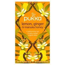 Pukka Orgánico Limón y Miel Jengibre 20 bolsitas de té 40G-se vende en todo el mundo desde UK