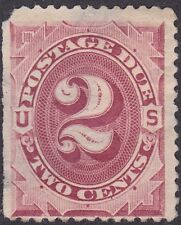 US - 1891 - 2 Cents Bright Claret Third Issue Numeral of Value Postage Due #J23