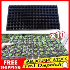 10 x 128 Hole Plant Seed Grow Insert Propagation Nursery Seedling Starter Tray