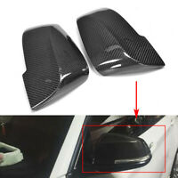 Carbon Fiber Style Side Rearview Mirror Cover Trim For BMW F01 F02 F06 F12 14-16