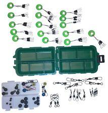 135 Teile Angel Zubehör Friedfisch Set Box Wirbel Einhänger Stopper Gummi Perlen