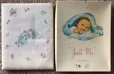 """Vintage Baby Record Book for a Boy Keepsake Book """"Just Me"""" Sanitoy Blue New!"""