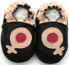 Soft Sole Leather Baby Infant Toddler Kid Child Gift New GirlSymbol Shoes 0-6M