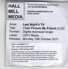 (CG704) Last Night's TV, I Can Picture My Friend - 2011 DJ CD