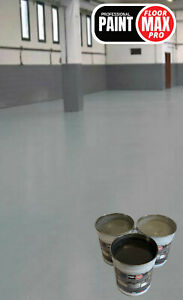 HEAVY DUTY CONCRETE FLOOR PAINT -LIGHT-MID-DARK GREYS - FREE NEXT DAY DELIVERY