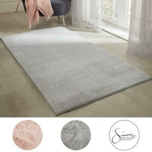 Sienna Faux Rabbit Fur Rug Anti-Slip/Skid Bedroom Super Soft Non-Shed Floor Mat