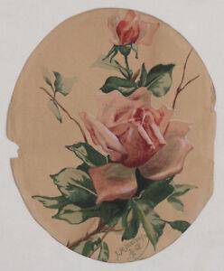 Original 1905 flower still life painting, Austrian artist J. Mitterhofer, signed