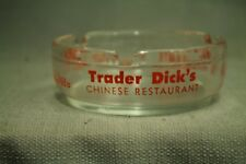 Vtg Clear glass ashtray Trader Dick's Chinese restaurant Nugget Casino Sparks NV