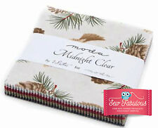 "Moda Charm Pack 42 x 5"" 100% cotton squares in Midnight Clear Design - 3 Sisters"